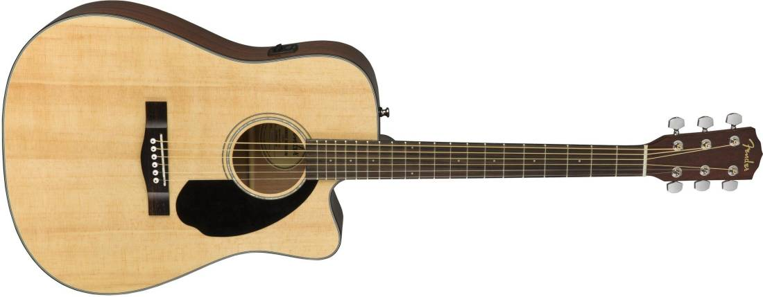 fender cd 60sce dreadnought acoustic electric guitar natural long mcquade musical instruments. Black Bedroom Furniture Sets. Home Design Ideas