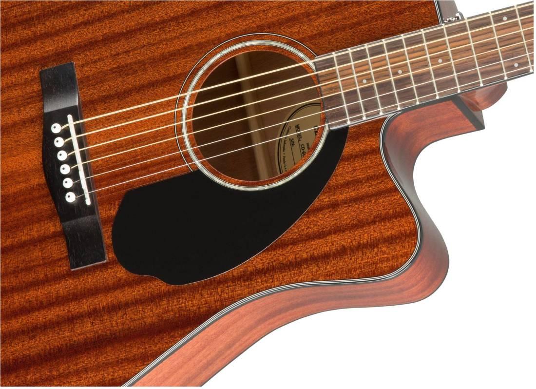 fender cd 60sce all mahogany acoustic electric guitar natural long mcquade musical instruments. Black Bedroom Furniture Sets. Home Design Ideas