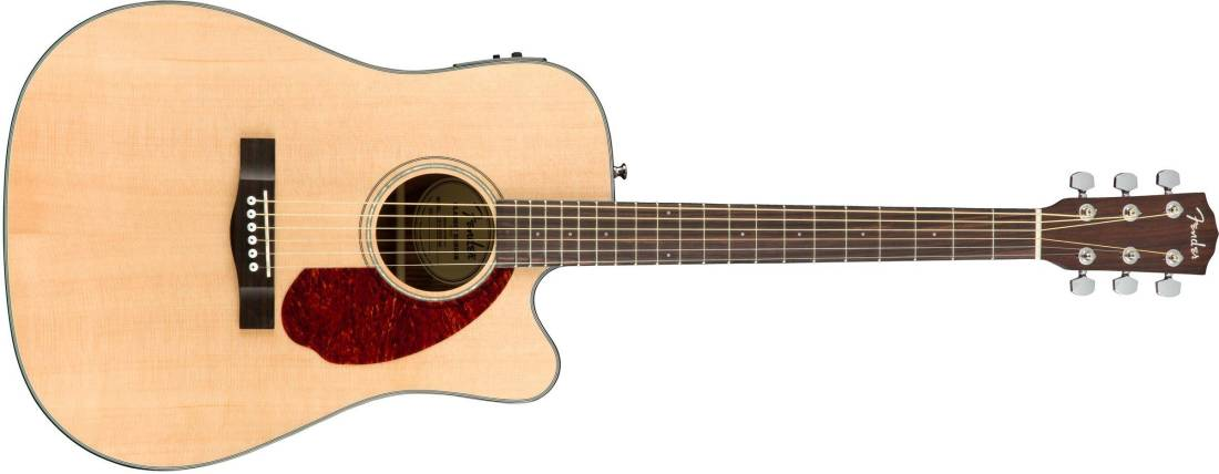 fender cd 140sce acoustic electric guitar with case natural long mcquade musical instruments. Black Bedroom Furniture Sets. Home Design Ideas