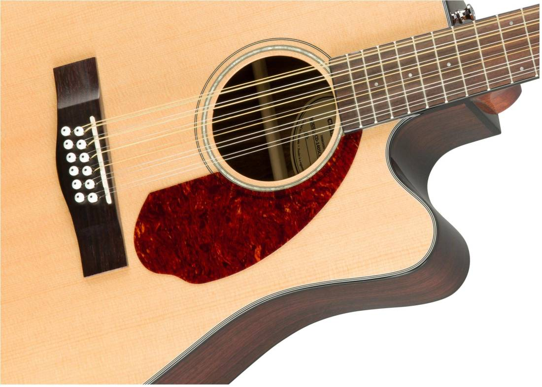 fender cd 140sce 12 string acoustic electric guitar with case natural long mcquade musical. Black Bedroom Furniture Sets. Home Design Ideas