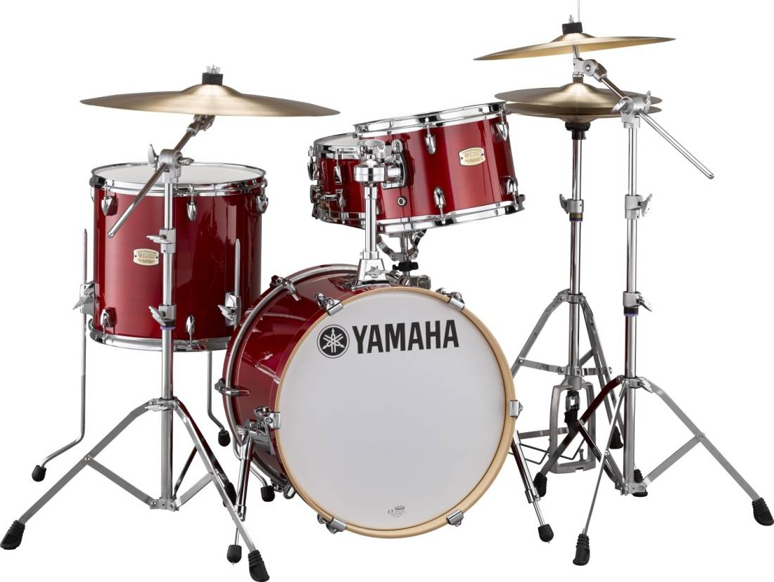 yamaha stage custom birch bop kit 18 12 14 cranberry red. Black Bedroom Furniture Sets. Home Design Ideas