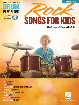 Rock Songs for Kids: Drum Play-Along Volume 41 - Drum Set - Book/Audio Online