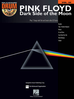 Pink Floyd -- Dark Side of the Moon: Drum Play-Along Volume 24 - Drum Set - Book/CD