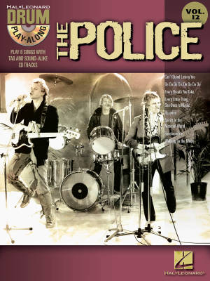 The Police: Drum Play-Along Volume 12 - Drum Set - Book/CD