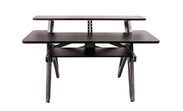 Zaor yesk studio desk jungle grey long mcquade for Domon furniture st eustache