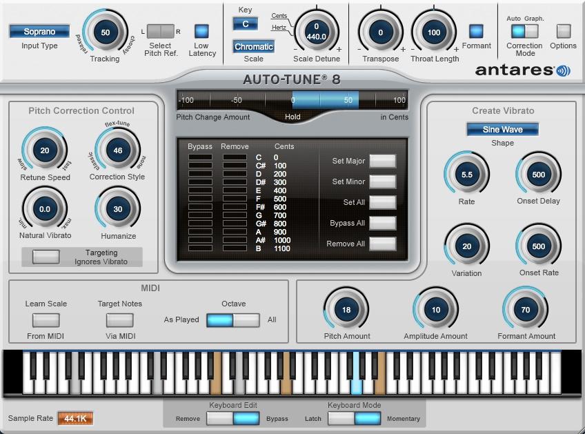 Antares Auto-tune Vocal Studio 8 Native - Download - Long
