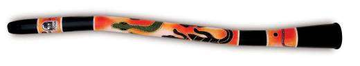 Curved Didgeridoo with Gecko Pattern