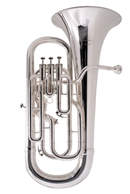 New Standard Euphonium 3+1 Valve - Silver Plated with Case