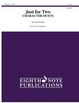 Just For Two: Character Duets - Kaisershot - Alto Saxohone Duets - Book