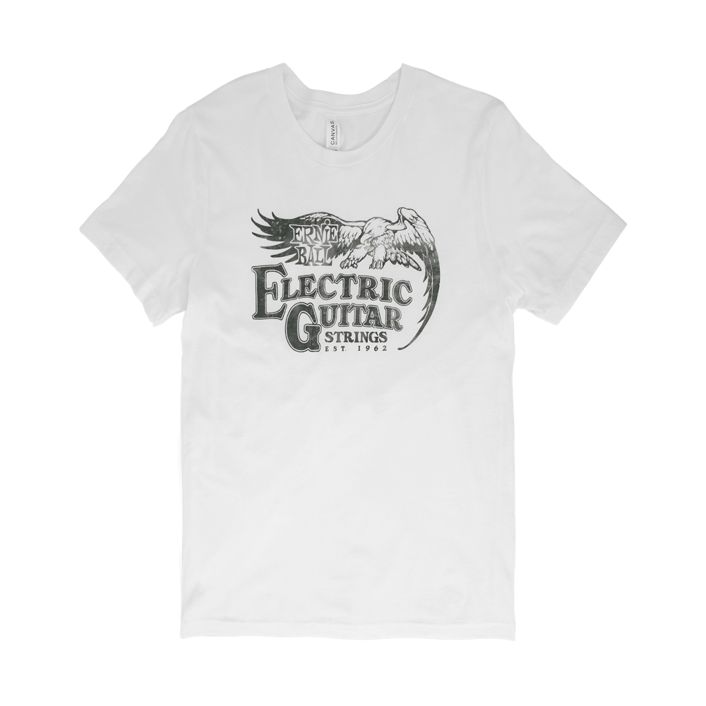47bd1a7adee51 Ernie Ball Vintage Electric Guitar Strings T-Shirt - Black - Large - Long   McQuade  Musical Instruments