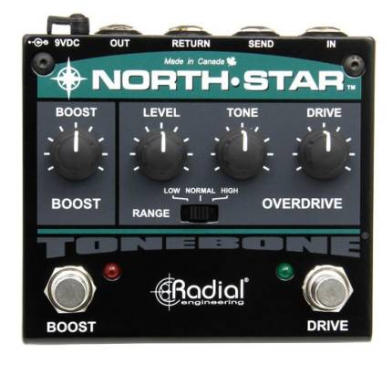 North-Star Clean Overdrive and Power Boost Pedal