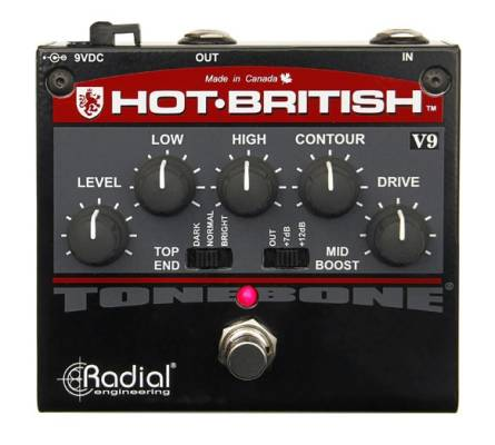 Hot British V9 Distortion Pedal