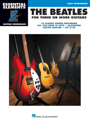 The Beatles for 3 or More Guitars: Essential Elements Guitar Ensembles - Book