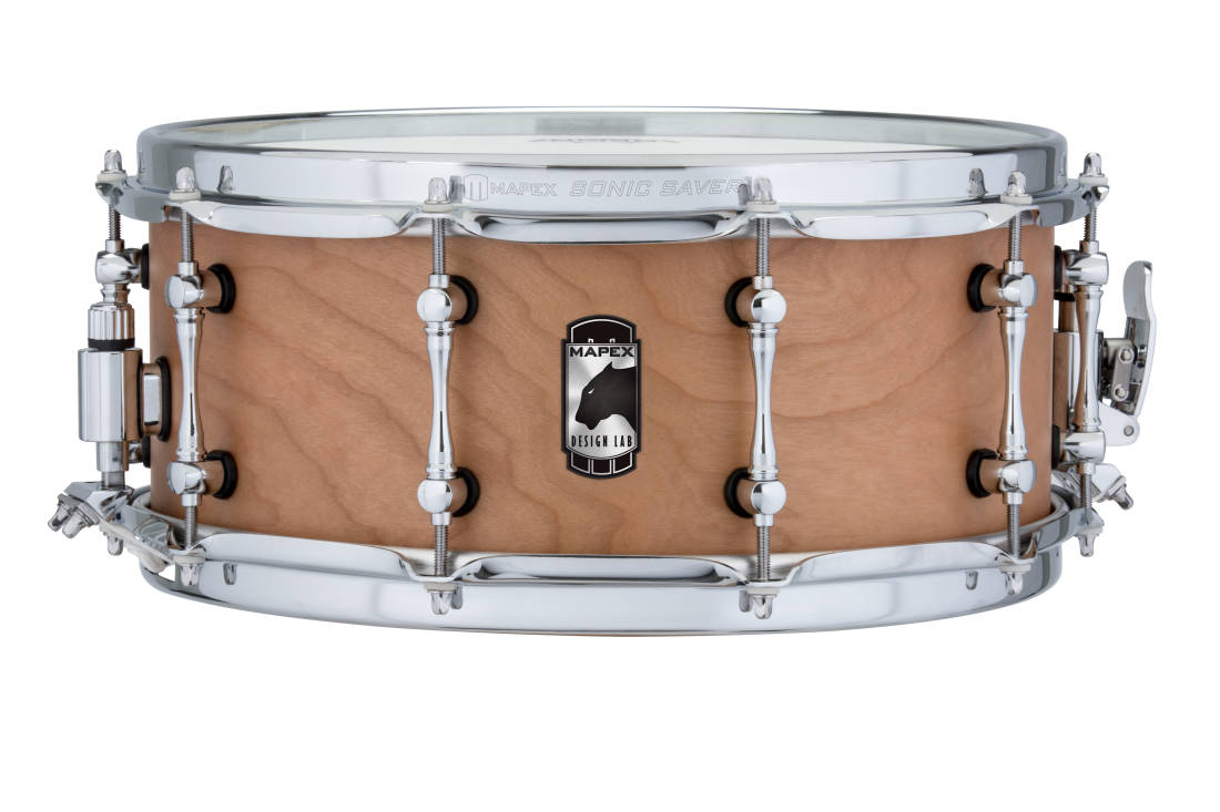 mapex black panther 14x6 39 39 cherry bomb snare drum natural satin long mcquade musical. Black Bedroom Furniture Sets. Home Design Ideas