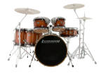 Ludwig Drums - Evolution Maple 6-Piece Shell Pack - Mahongany Burst