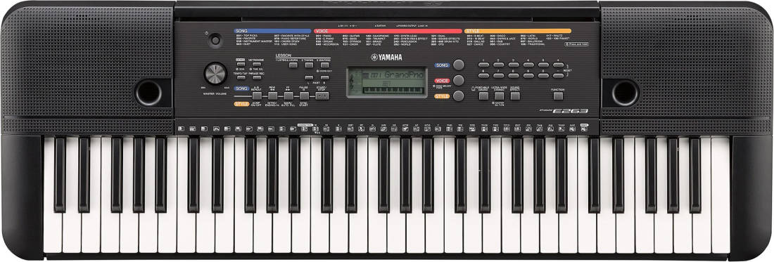 Yamaha psr e263 61 key portable keyboard long mcquade for Yamaha music school locations