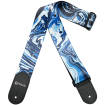 DiMarzio - Steve Vai Guitar Strap, Universe Print with Leather Ends - Blue Universe