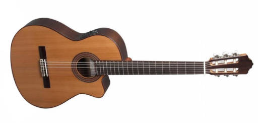 A-403 Classical Thin Body Acoustic Guitar w/ Cutaway & Electronics - Cedar/Mahogany