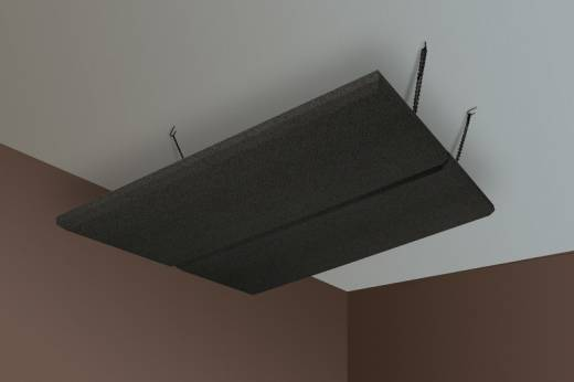ProCloud Acoustic Ceiling Panels (2x) 4' x 4' - Obsidian