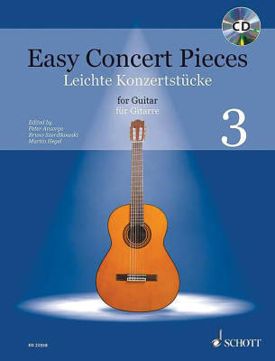 Easy Concert Pieces: Volume 3 - Classical Guitar - Book/CD