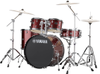 Yamaha - Rydeen 5-Pc Drum Kit (20,10,12,14,Snare) w/Hardware - Burgundy Glitter