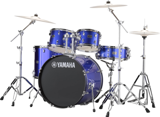 Rydeen 5-Pc Drum Kit (22,10,12,16,Snare) w/Hardware - Fine Blue