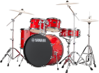 Yamaha - Rydeen 5-Pc Drum Kit (22,10,12,16,Snare) w/Hardware - Hot Red