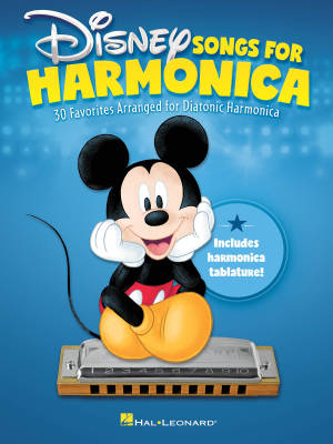 Disney Songs for Harmonica - Diatonic Harmonica - Book