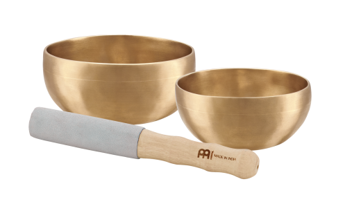 2-Piece Universal Singing Bowl Set with Resonant Mallet