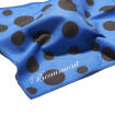 Beaumont - Flute Standard Polishing Cloth, Small - Blue Polka Dot