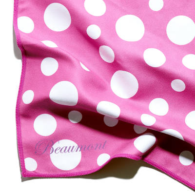 Instrument Polishing Cloth, Large - Pink Polka Dot