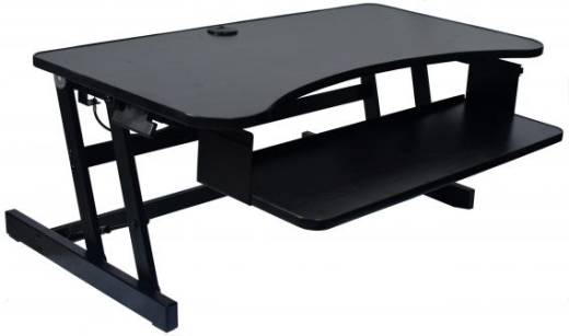 Deluxe Sit to Stand Adjustable Desk (37'' Wide)