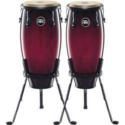 Headliner Congas with Stand - Wine Red Burst