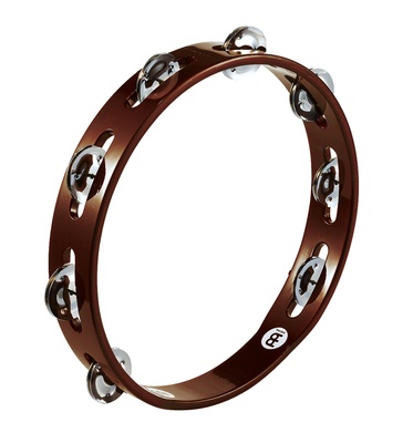 Traditional Wood Tambourine - Steel Jingles