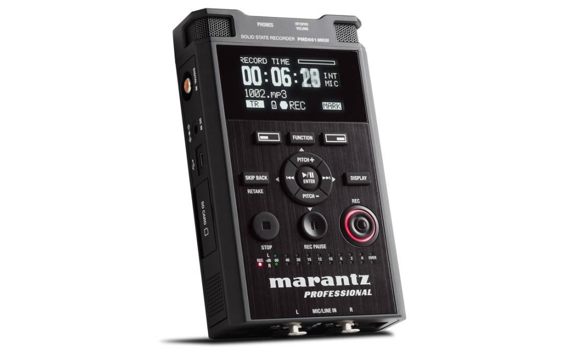 marantz pmd 661 mkiii professional portable audio recorder w rh long mcquade com Marantz Stereo Receiver Marantz Stereo Receiver