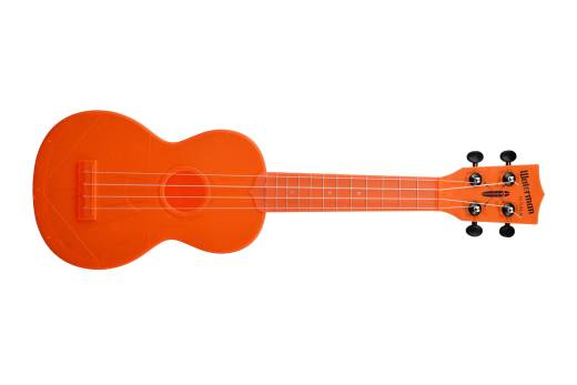 Waterman Soprano Ukulele - Fluorescent Orangsicle