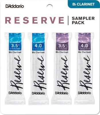 Reserve Clarinet Reed Sampler 4 Pack - 3.5+/4.0