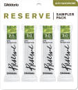 DAddario Woodwinds - Reserve Alto Saxophone Reed Sampler 4 Pack - 2.5/3/3.0+