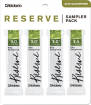 DAddario Woodwinds - Reserve Alto Saxophone Sampler 4 Pack - 3/3.0+/3.5
