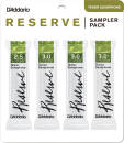 DAddario Woodwinds - Reserve Tenor Saxophone Reed Sampler 4 Pack - 2.5/3/3.0+