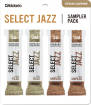 DAddario Woodwinds - Select Jazz Reed Sampler Pack - Soprano Saxophone 3S/3M - 4 Pack