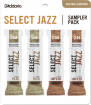 DAddario Woodwinds - Select Jazz Reed Sampler Pack - Baritone Sax 2M/2H - 4 Pack