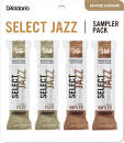 DAddario Woodwinds - Select Jazz Reed Sampler Pack - Baritone Sax 3S/3M - 4 Pack