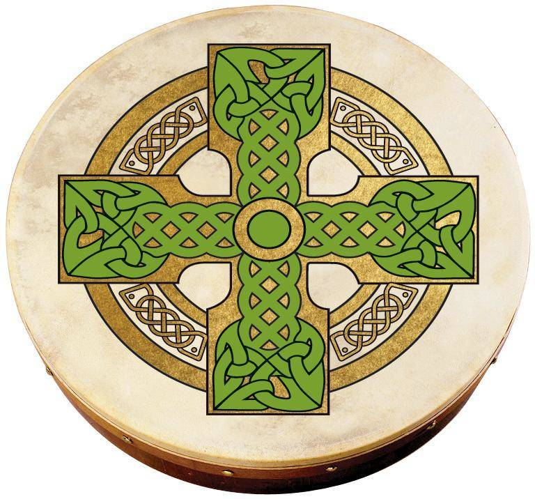 waltons irish music 12 39 39 celtic cross bodhran long mcquade musical instruments. Black Bedroom Furniture Sets. Home Design Ideas