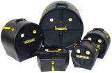 Hardcase - Drum Case Set for Rock/Fusion Kits, 5 Pieces