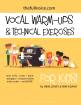 The Full Voice - Vocal Warm-Ups & Technical Exercises for Kids! (Activity Boards) - Loney/Adams - Voice