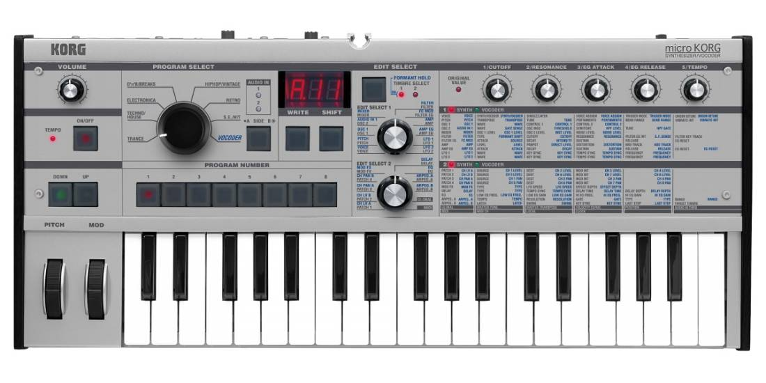 Korg MicroKORG Synthsizer With Vocoder - Platinum Limited