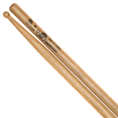 8A Red Hickory Drumsticks