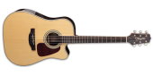 Takamine - Dreadnought Cutaway Spruce/Ziricote Acoustic/Electric Guitar - Natural