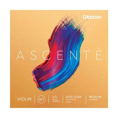 Ascente Violin String Set, 3/4 Scale, Medium Tension